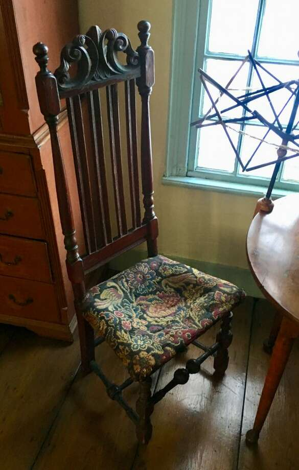 Keeler Tavern Museum and History Center is seeking funds to restore this rare painted banister back side chair dating back to the early 1700s through Fairfield County's Giving Day Thursday, Feb. 28. The goal is to raise $3,000 within 24 hours. For more information, visit keelertavernmuseum.org.