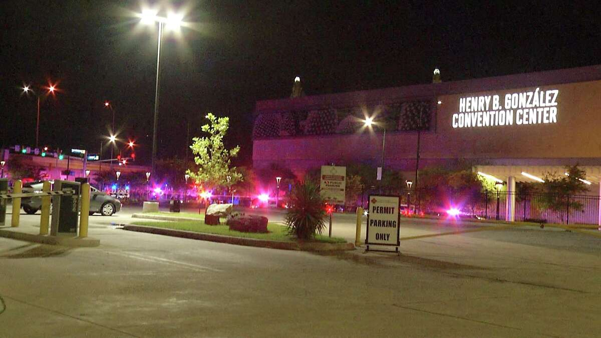 Four people were shot in a drive-by attack late Monday in downtown San Antonio, police said.