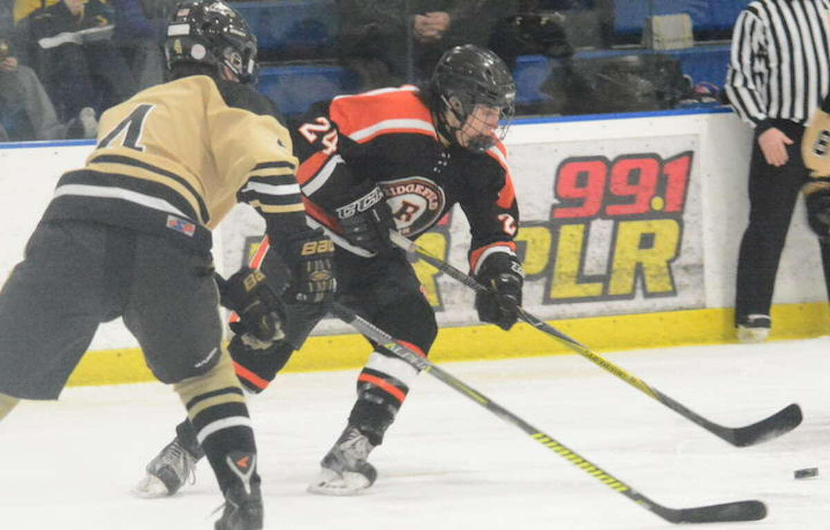 Owen Luft was among the point-getters as the Ridgefield boys hockey team won two games in two days. - Andy Hutchison photo