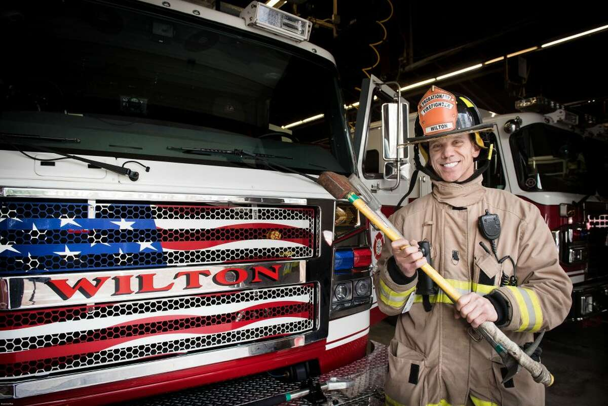 Gary Mandel of Ridgefield is Wilton's newest firefighter. He fills a vacancy left by Capt. Jim Gies, who retired. - Bryan Haeffele photo