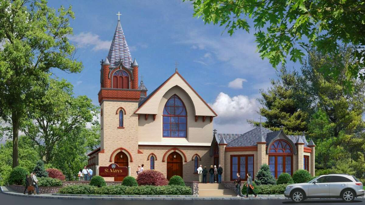 A rendering of the approved addition to St. Mary's Church.