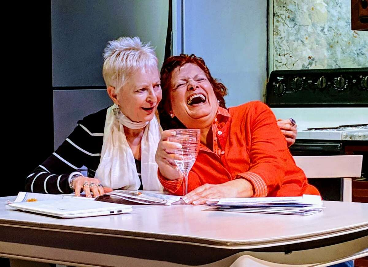 Old friends Linda Seay and Frances McGarry are up to no good in the adult comedy, Old Ringers, playing now through Feb. 23 at the Ridgefield Theater Barn.