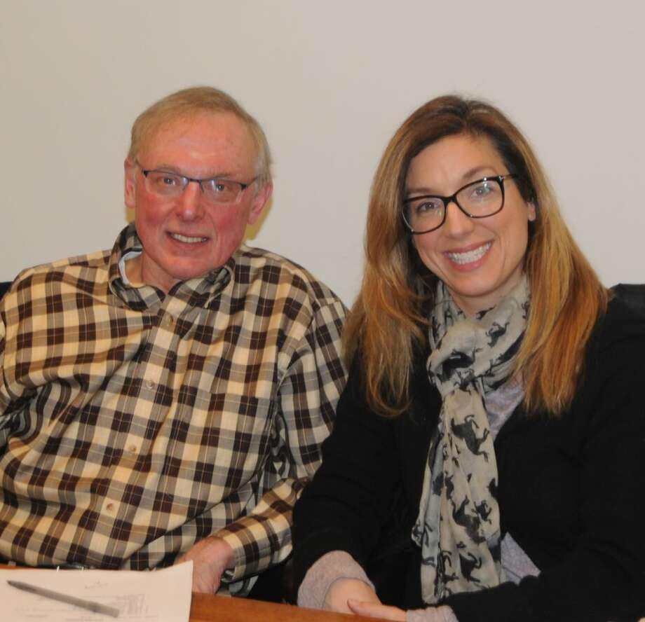 Dave Ulmer and Jessica Mancini were re-elected as the Board of Finance's two officers on Jan. 15. — Macklin Reid photo