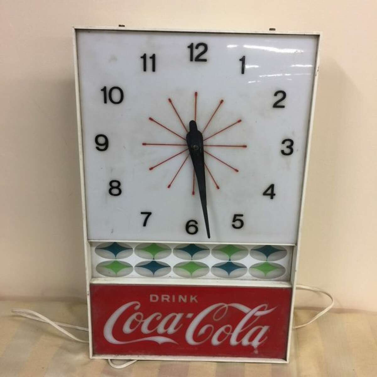 That's so vintage: Items like this old Coca-cola advertising clock will be on sale Saturday, Jan. 12, at the Ridgefield Thrift Shop on Governor Street.