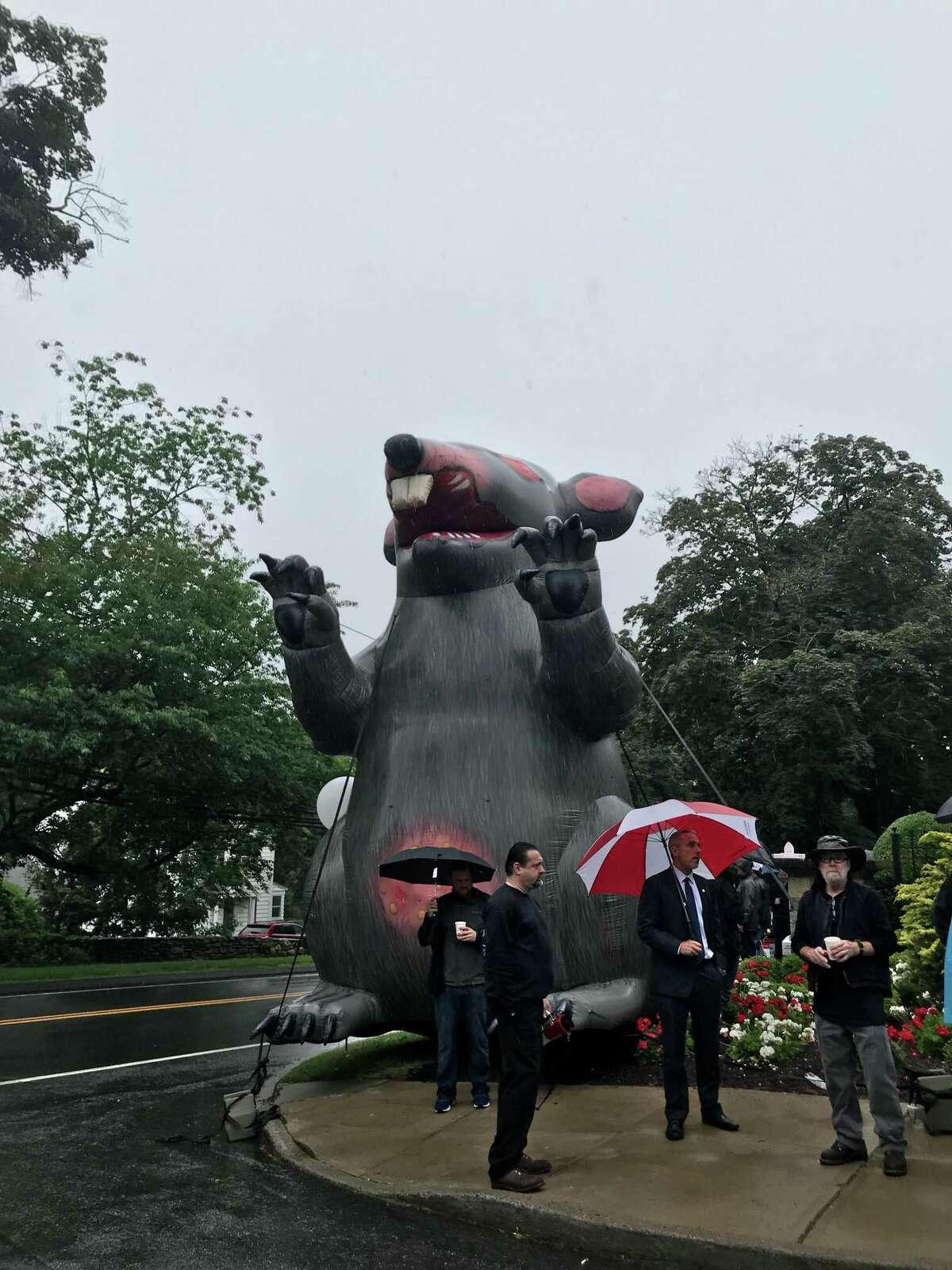 Scabby the rat, an inflatable union icon.
