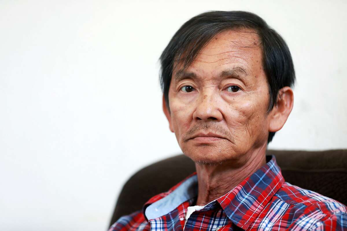 Tu Le, 63, poses for a portrait in his home in San Jose, Calif., on Thursday, June 6, 2019. Le's Vietnamese brothers, Lam Le and Hiep Nguyen, are desperate to travel to the United States to donate bone marrow to their dying sibling. The brothers applied for temporary visitor visas in late May, but were denied entry to the U.S. just a few days later, the family said. A bone marrow transplant is the only thing that can save the 63-year-old man.
