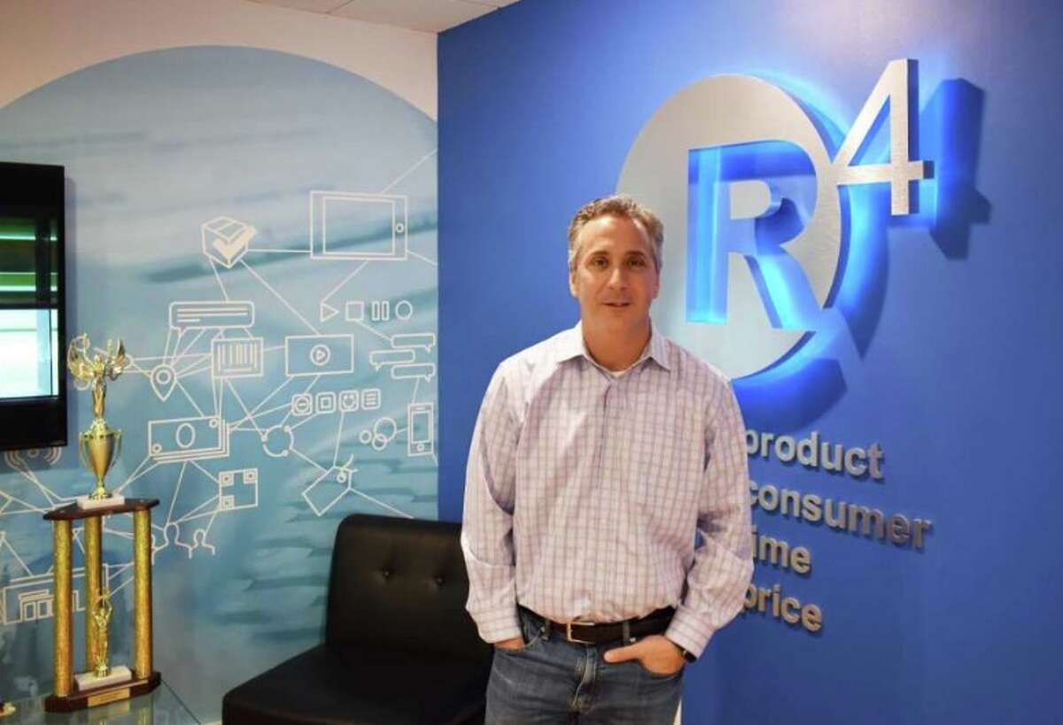Paul Breitenbach in December 2018 at the Ridgefield headquarters of his r4 Technologies. - Alexander Soule photo