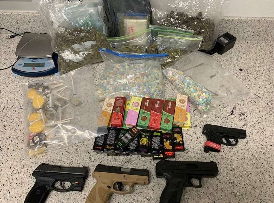 Rafael Aceves, 38, and his son, Rafael Jr., 18, were arrested on Friday, June 14, 2019, after a month-long undercover investigation of alleged drug trafficking. Photo: Harris County Precinct 5 Constable's Office