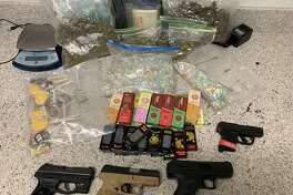 Rafael Aceves, 38, and his son, Rafael Jr., 18, were arrested on Friday, June 14, 2019, after a month-long undercover investigation of alleged drug trafficking.