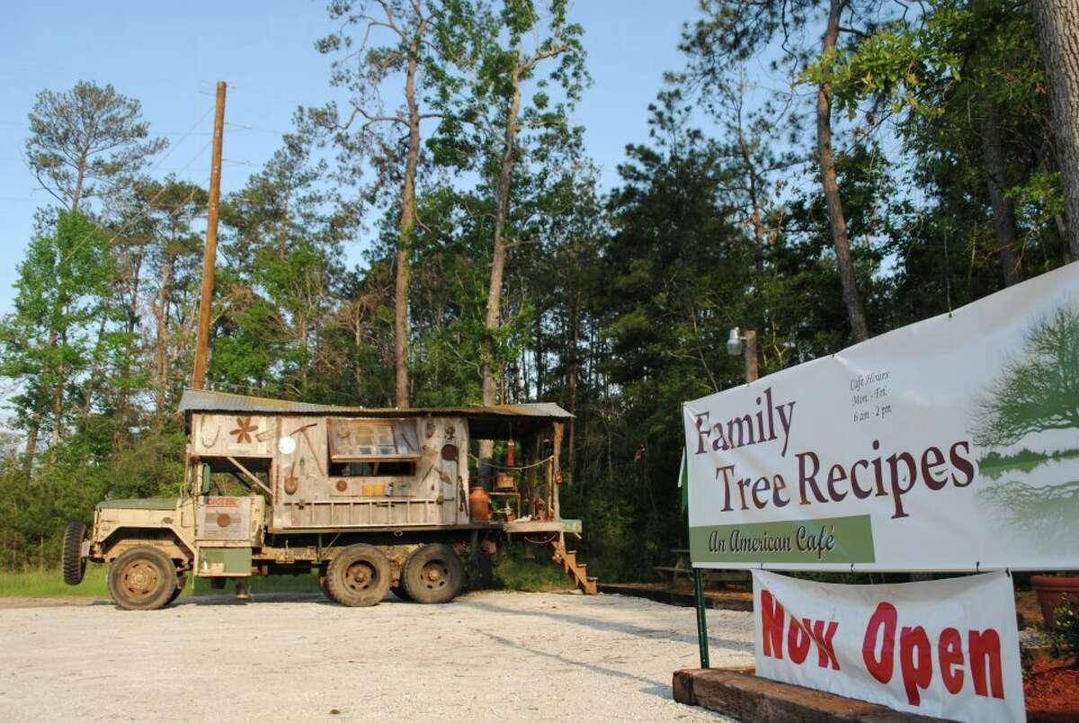 Located at12202 FM 1488 in Magnolia, Family Tree Recipes offers American breakfast and lunch dishes at a cafe tucked away in the woods.