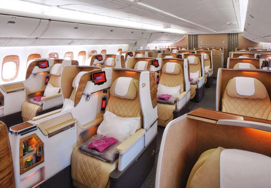 Emirates' new business class cabin on a 777-200LR. Photo: Emirates