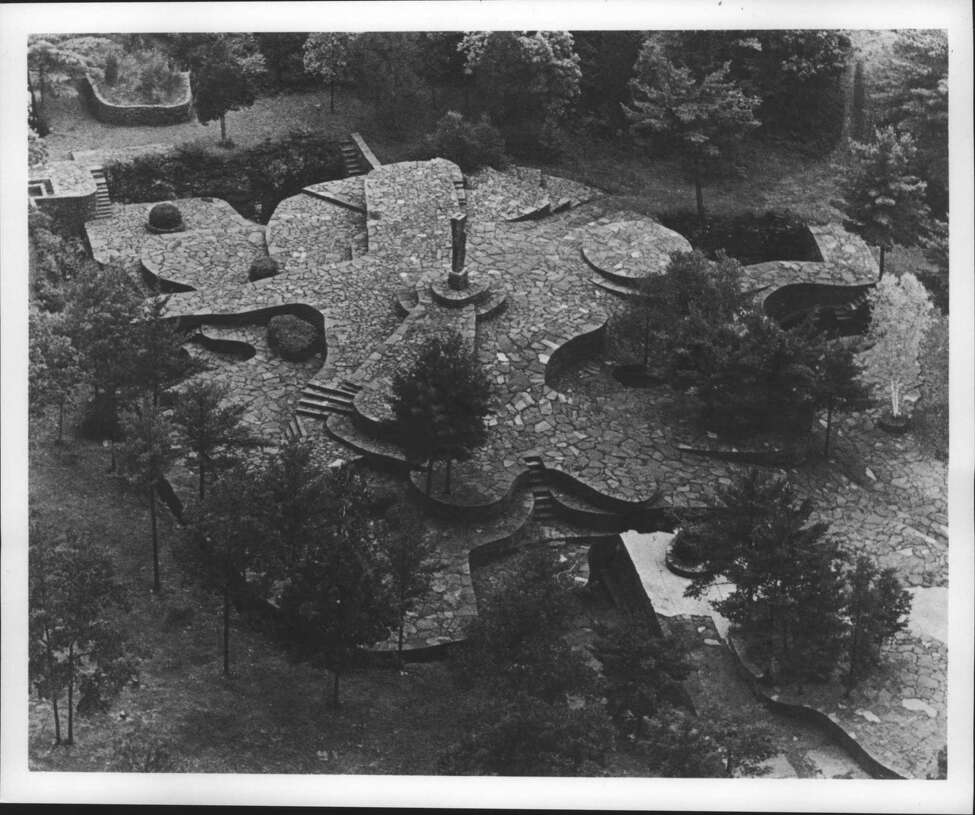 Opus 40, Harvey Fite's monumental 6 1/2 acre quarry sculpture in Saugerties, New York. June 06, 1989 (Times Union Archive)