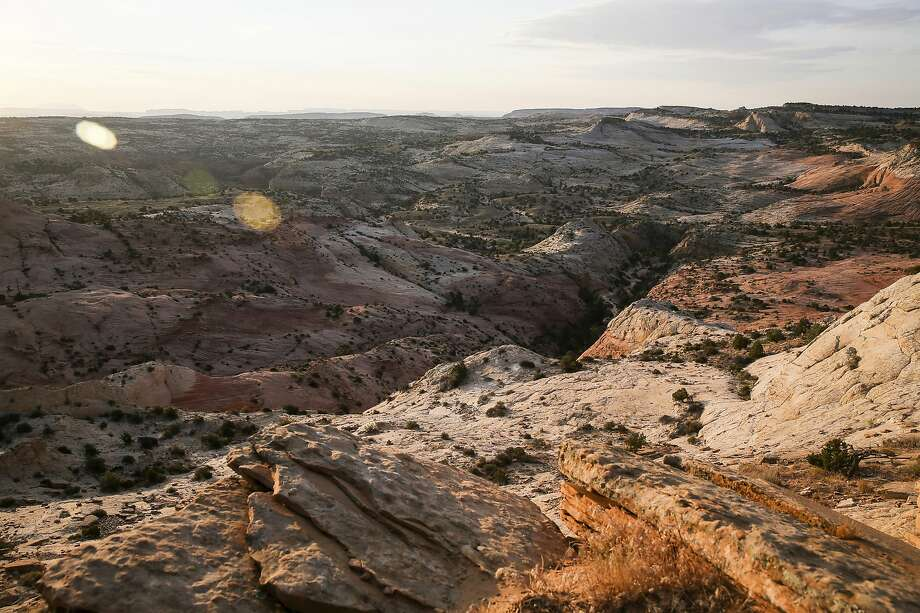 FILE - This July 9, 2017 file photo, shows a view of Grand Staircase-Escalante National Monument in Utah. A government watchdog will investigate whether the U.S. Interior Department broke the law by making plans to open up lands cut from the Utah national monument by President Trump to leasing for oil, gas and coal development. U.S. Sen. Tom Udall of New Mexico said Monday, June 17, 2019, in a news release that the Government Accountability Office informed his office last week that it has agreed to his request that it look into whether the Interior violated the appropriations law by using funds to assess potential resource extraction in the lands cut from the Grand Staircase-Escalante National Monument. (Spenser Heaps/The Deseret News via AP, File) Photo: Spenser Heaps, Associated Press
