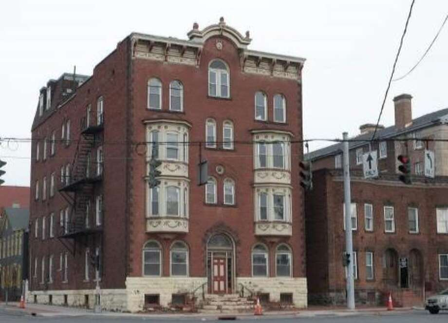 Alexandra Apartment Hotel, Schenectady is a five-story Queen Anne-style building built in 1900 and targeted residents who were primarily employees of the General Electric Company, whose industrial works were a short trolley ride away. The building is associated with the growth of Schenectady and is significant as an apartment hotel building type, according to a state recommendation. Photo: NYS Board For Historic Preservation