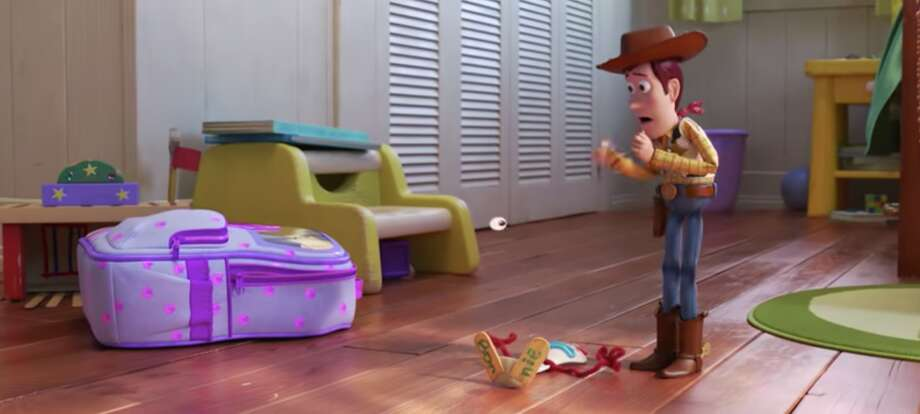 "A still from ""Toy Story 4"" shows Bonnie has inscribed her name on the bottom of Forky's feet, similar to Andy signing his name on the sole of Woody's boot. Photo: Disney Pixar"