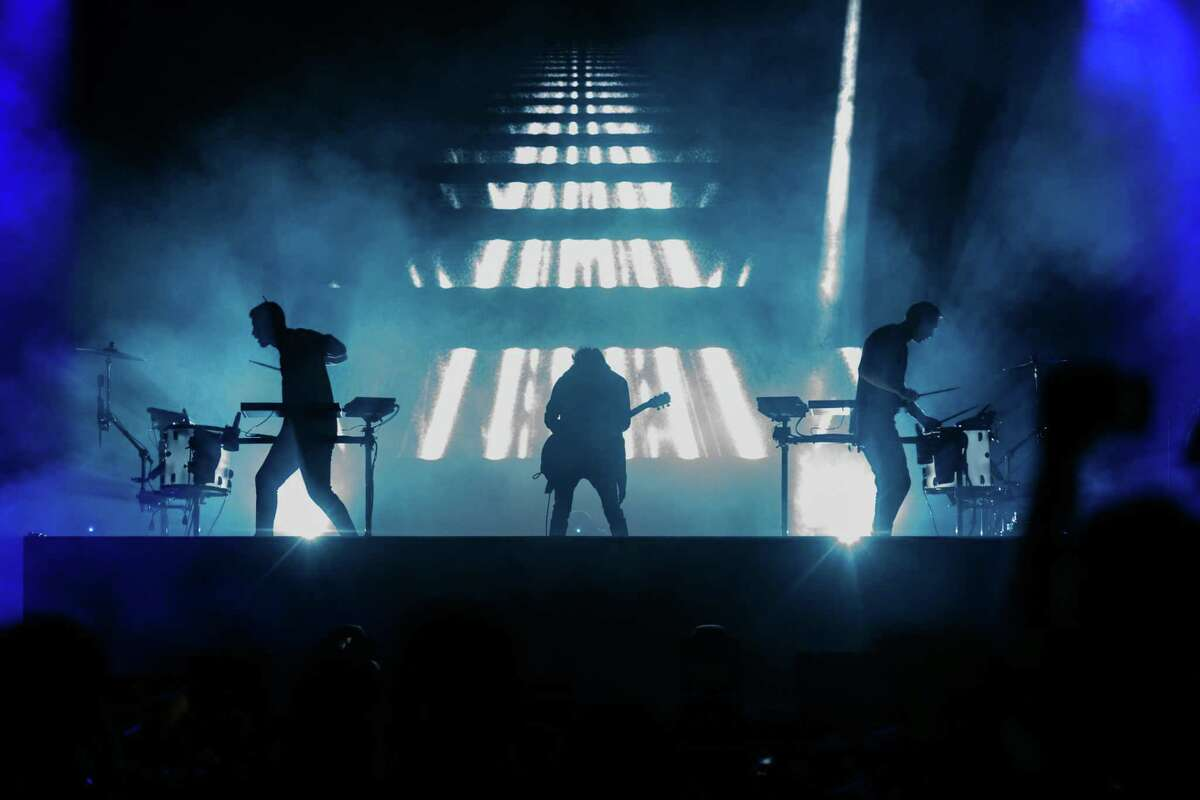 The EDM act Odesza on stage