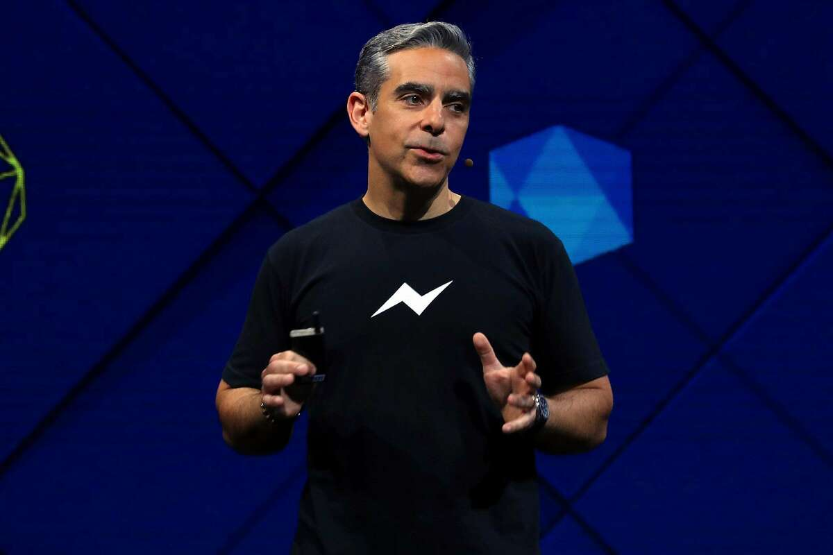 FILE -- Facebook executive David Marcus speaks at the Facebook F8 conference in San Jose, Calif., April 18, 2017. Marcus is leading an effort to set up an alternative financial system based on a cryptocurrency created by Facebook. (Jim Wilson/The New York Times)