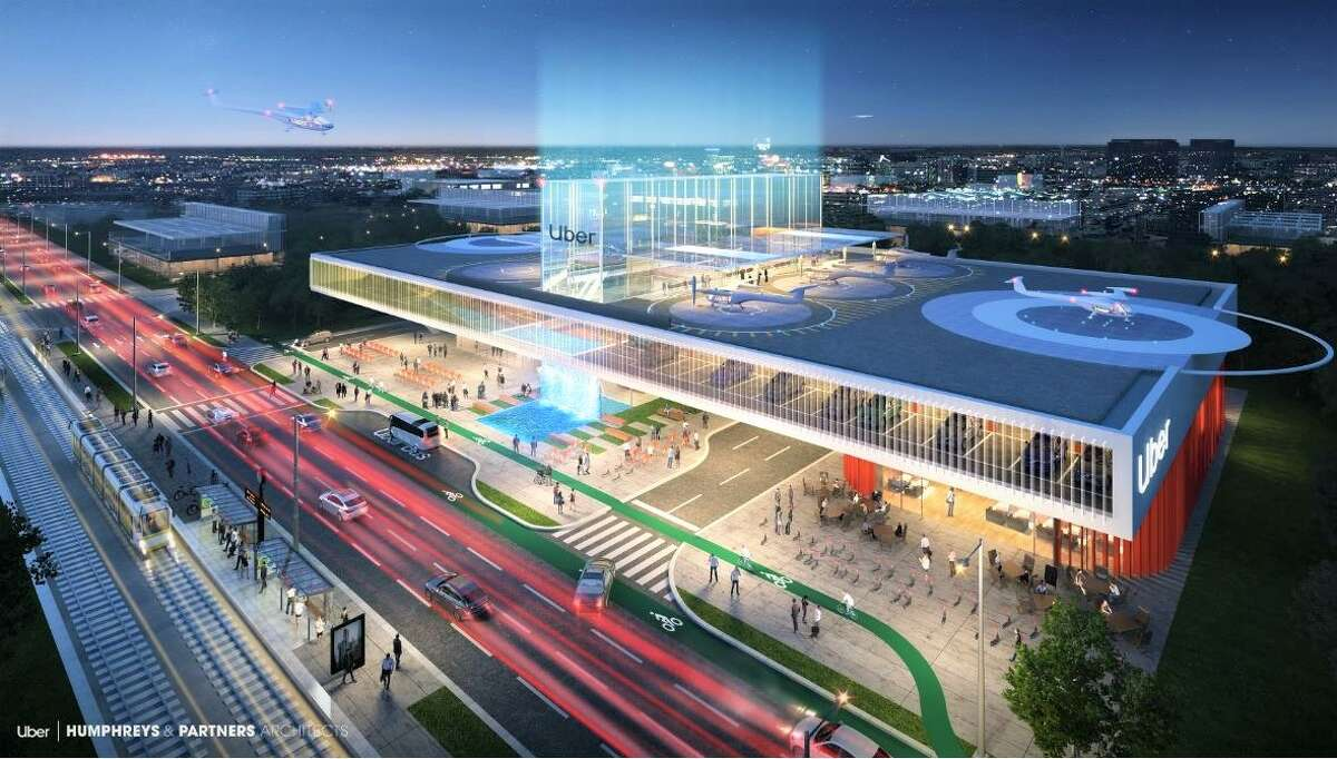 This design by Humphreys & Partners Architects is for the Dallas Uber Skyport hub.