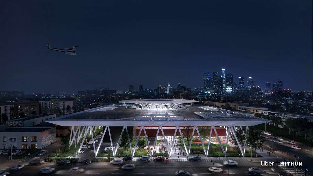 This design by Mithunis for the Los Angeles Uber Skyport hub.