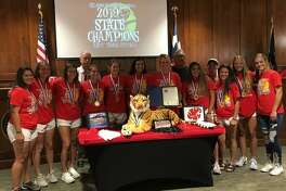 KatyMayor Bill Hastings recognized theKatyHigh School Varsity Softball Team UIL Class 6A 2019 State Champions at the June 17KatyCity Council meeting. He read a proclamation that declared June 17 asKatyHigh School Tigers Varsity Softball Team Day. He asked that coaches and parents join the students for the recognition. They received a standing ovation at the council meeting.