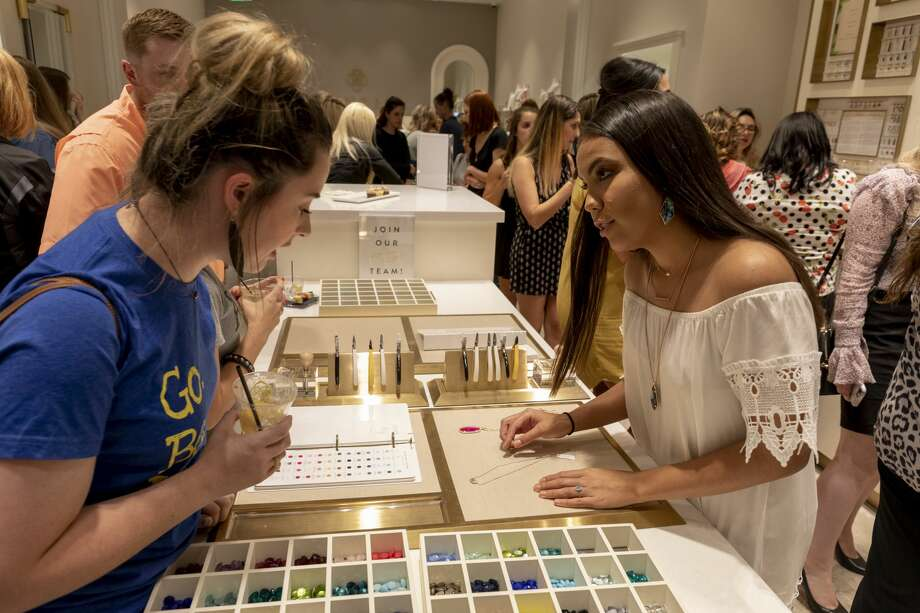 The Kendra Scott store held a grand opening on Thursday, June 13, 2019 at the Commons at Northpark. Twenty percent of the proceeds went to the Junior League of Midland. Photo: Jacy Lewis/191 News