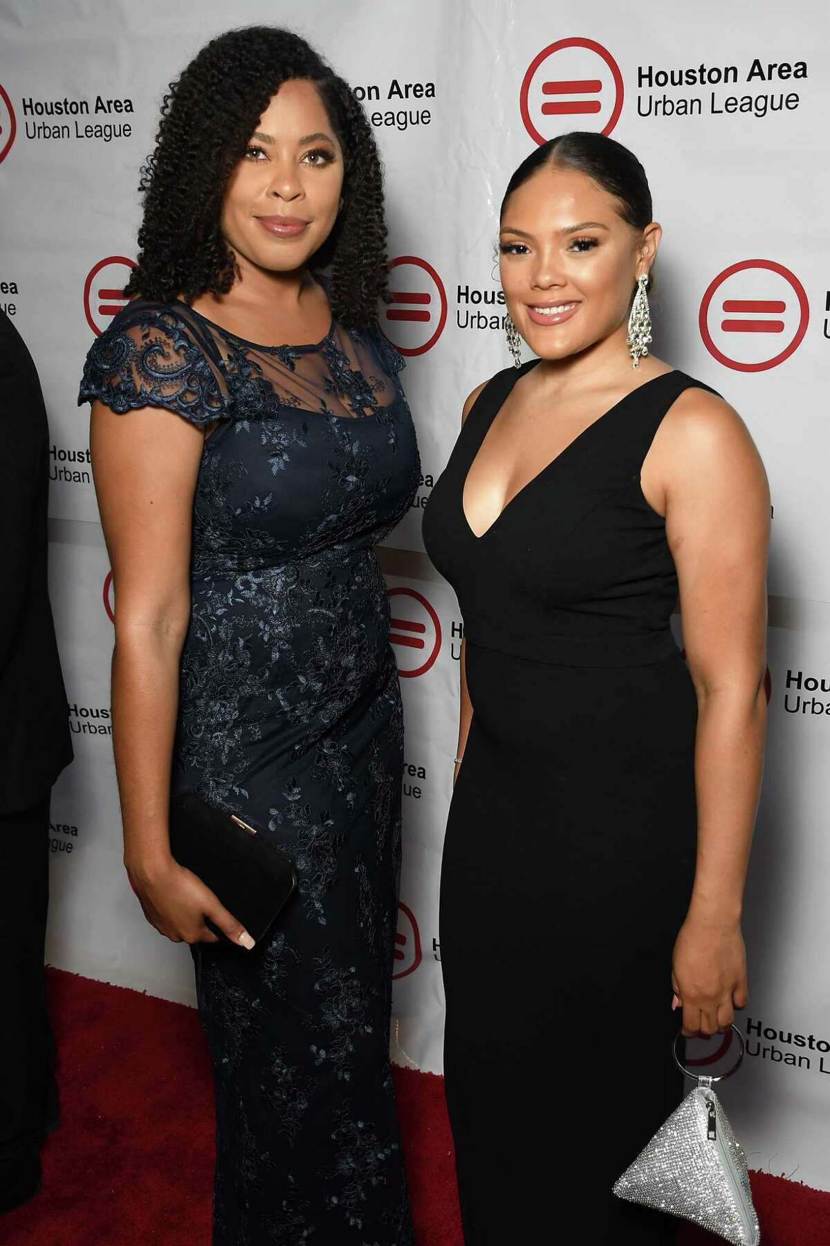 """Sydney Mullings and Adria Terry at the Houston Area Urban League """"Equal Opportunity"""" Gala at the Hilton Americas Hotel Saturday June 15, 2019.(Dave Rossman Photo)"""