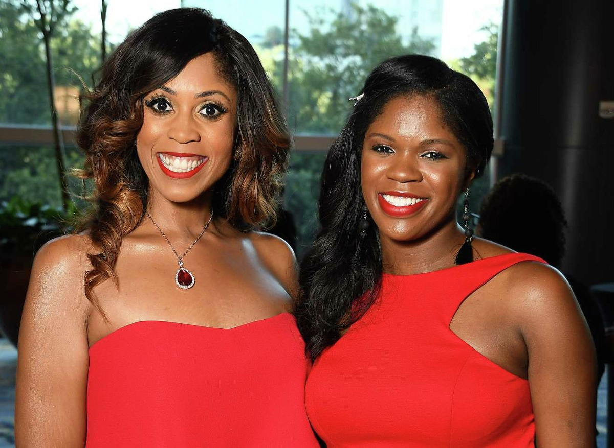 """Dr. Creshema Murray and Etherial Edetan at the Houston Area Urban League """"Equal Opportunity"""" Gala at the Hilton Americas Hotel Saturday June 15, 2019.(Dave Rossman Photo)"""