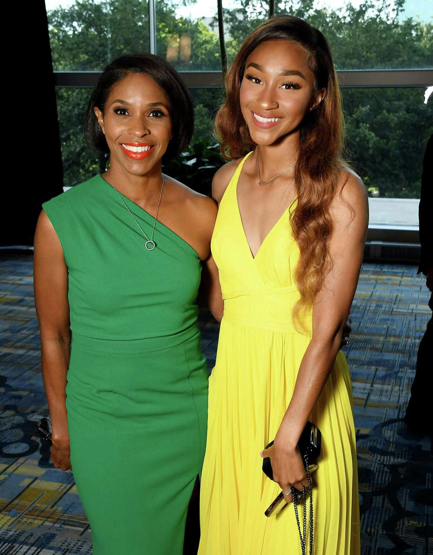 "Latarsha Mallard and Aliyah Mallard at the Houston Area Urban League ""Equal Opportunity"" Gala at the Hilton Americas Hotel Saturday June 15, 2019.(Dave Rossman Photo)"