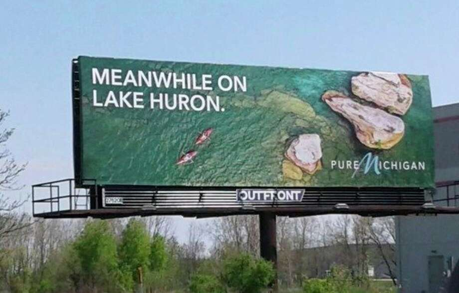 Tyler Leipprandt's photograph is pictured on this billboard. These billboard advertisements have appeared in Michigan and Ohio. (Courtesy Photo)