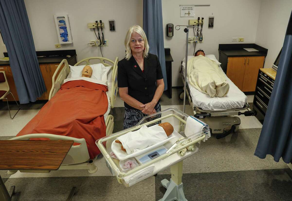 Kathryn Tart, the Dean of Nursing at The University of Houston at Sugar Land in the Simulation room, in Sugar Land, Monday, May 20, 2019.