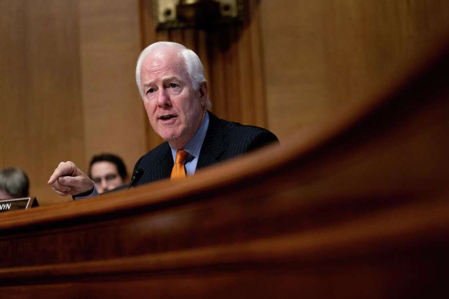 Sen. John Cornyn, R-Texas, speaks during a Senate Finance Committee hearing on drug pricing, on Capitol Hill Feb. 26. With Connecticut Democratic Sen. Richard Blumenthal and others, Cornyn has introduced the Affordable Prescriptions for Patients Act of 2019. Photo: ERIN SCHAFF /NYT / NYTNS