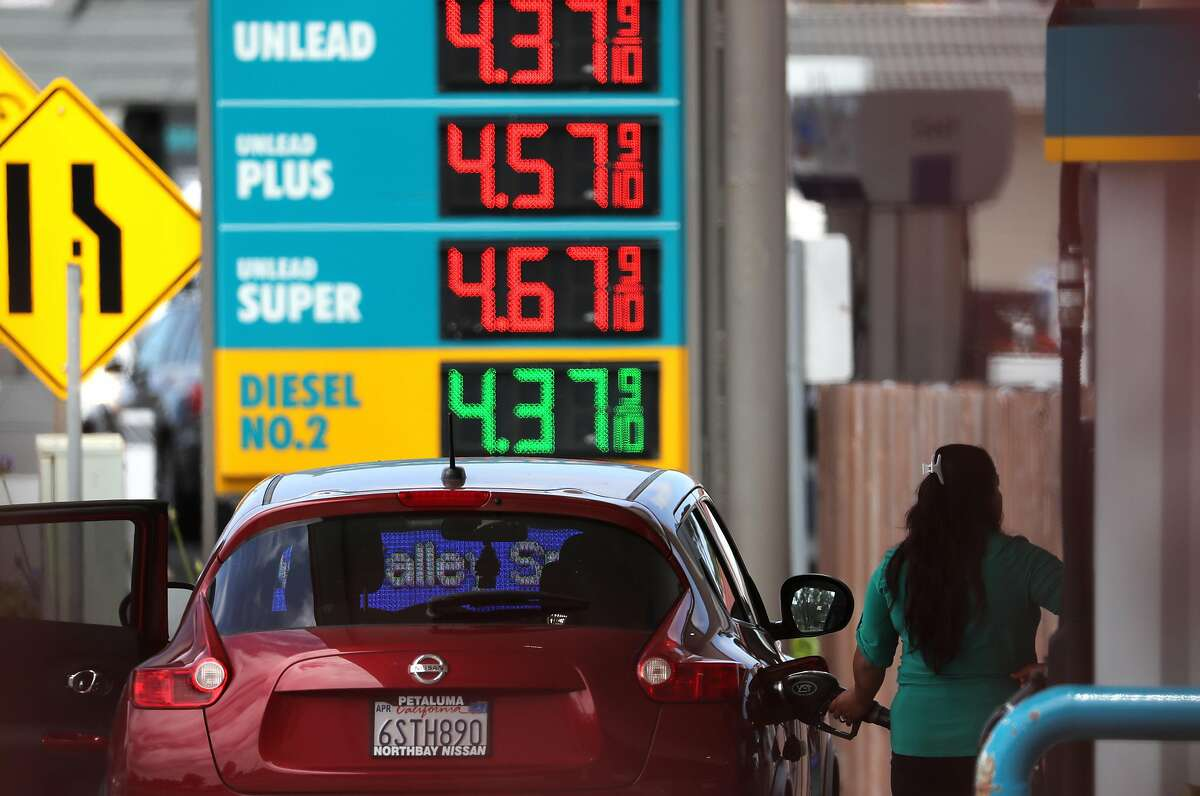 MILL VALLEY, CALIFORNIA - MAY 24: Gas prices over $4.00 a gallon are displayed at a gas station on May 24, 2019 in Mill Valley, California. Heading into the Memorial Day weekend, California gas prices are the highest in the nation with the average price of $4.03 per gallon of regular. AAA estimates that nearly 38 million Americans will travel by car for the holiday weekend, a 3.5 percent increase since last year. (Photo by Justin Sullivan/Getty Images)