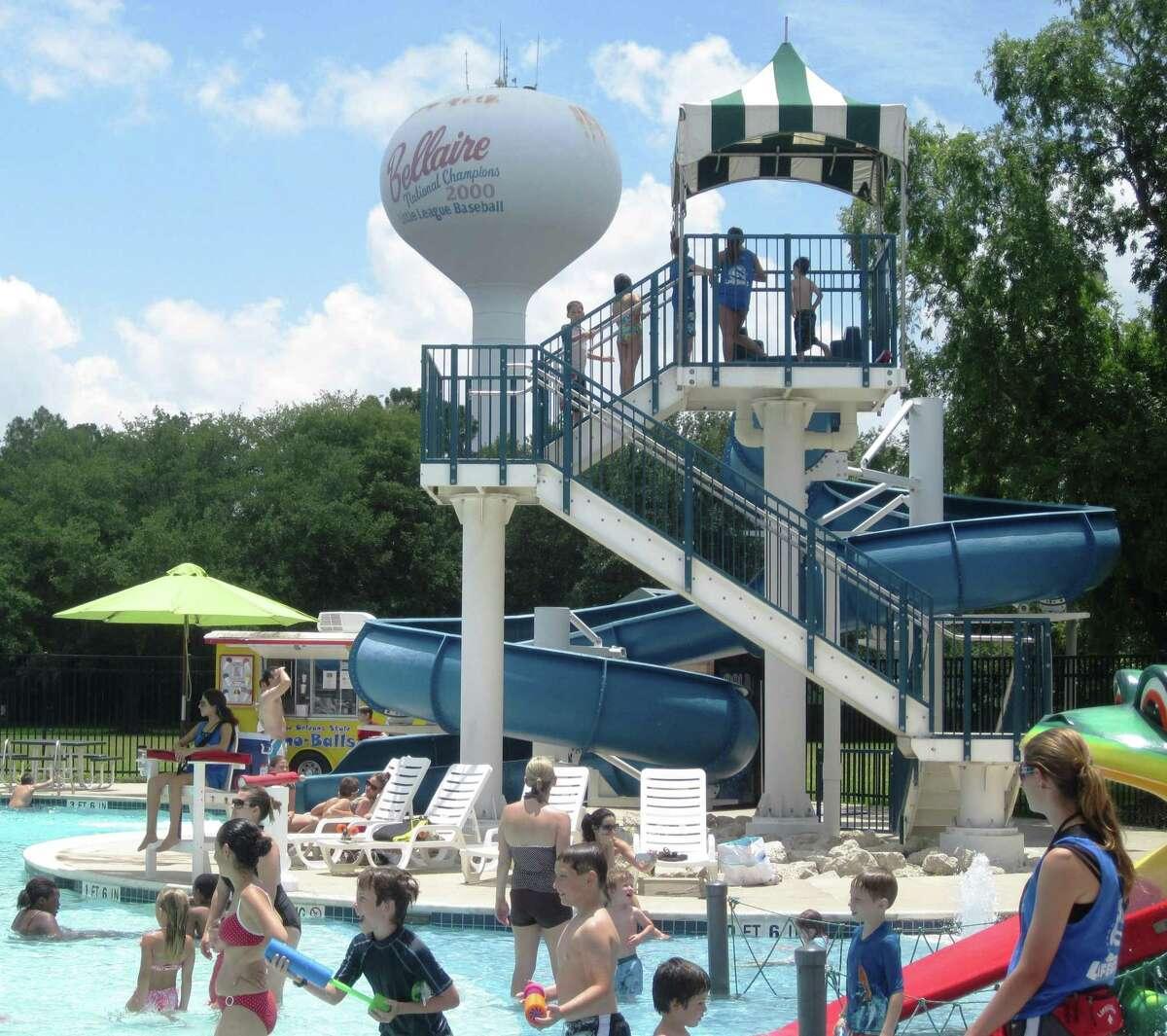 The summer scene at the Bellaire Family Aquatics Center.