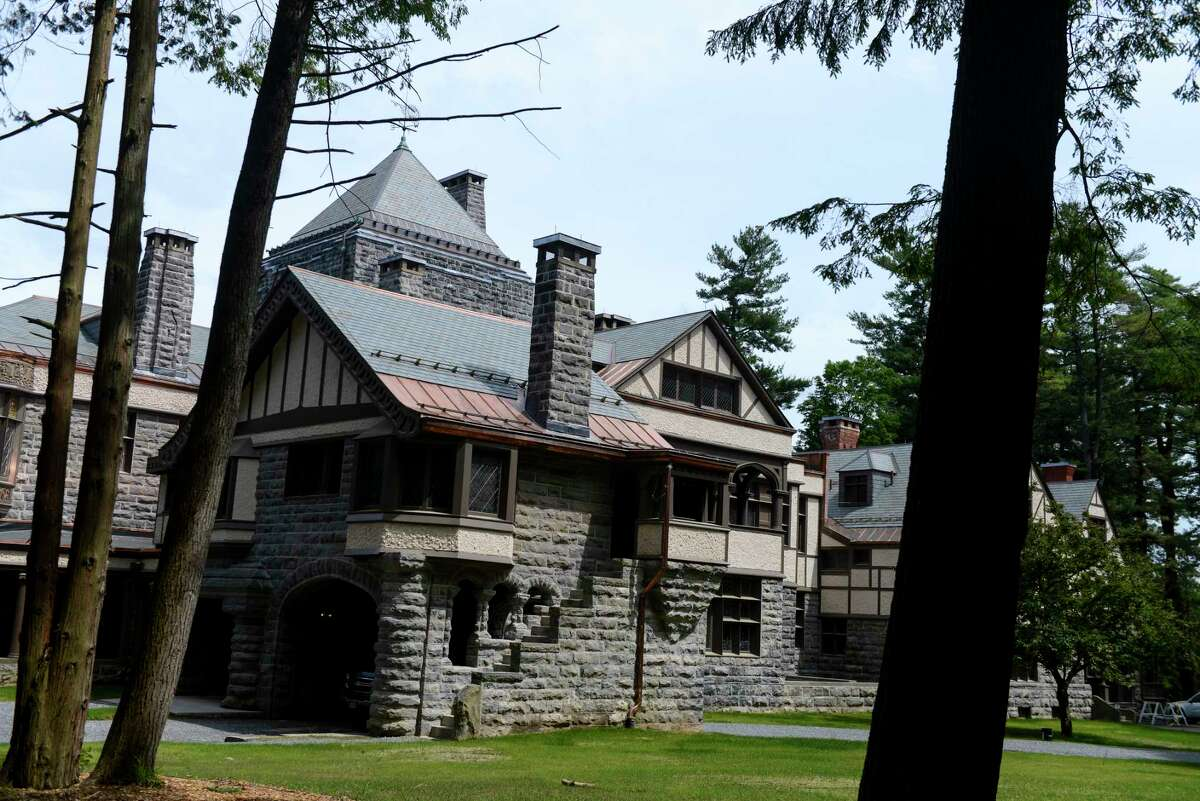 Exterior of Yaddo on Tuesday, June 18, 2019 in Saratoga Springs, N.Y. A multimillion-dollar renovation was recently completed on the country estate that serves as a tranquil retreat for artists. (Catherine Rafferty/Times Union)