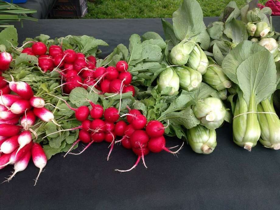 Fresh, in-season produce is a large component of the Durham Farmers Market, which runs Thursdays from 3 to 6:30 p.m. on the Town Green. Photo: Contributed Photo