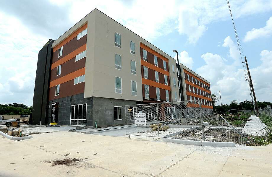 New hotels are under construction in the commercial area along Interstate 10 near Walden Road, including a new complex among the hotels near Tinseltown. The growth signals the growing demand for accommodations as regional tournaments and other tourism opportunities grow in the region. Photo taken Friday, May 31, 2019 Kim Brent/The Enterprise Photo: Kim Brent / The Enterprise / BEN