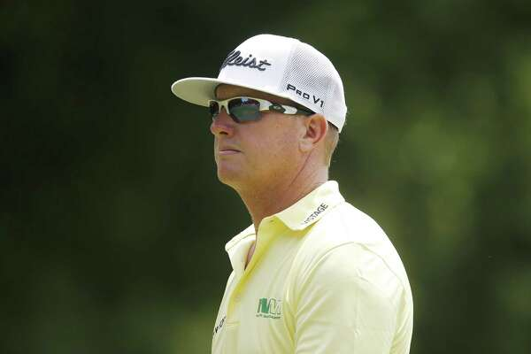 FORT WORTH, TEXAS - MAY 26: Charley Hoffman of the United States looks on on the 11th hole during the final round of the Charles Schwab Challenge at Colonial Country Club on May 26, 2019 in Fort Worth, Texas. (Photo by Michael Reaves/Getty Images)