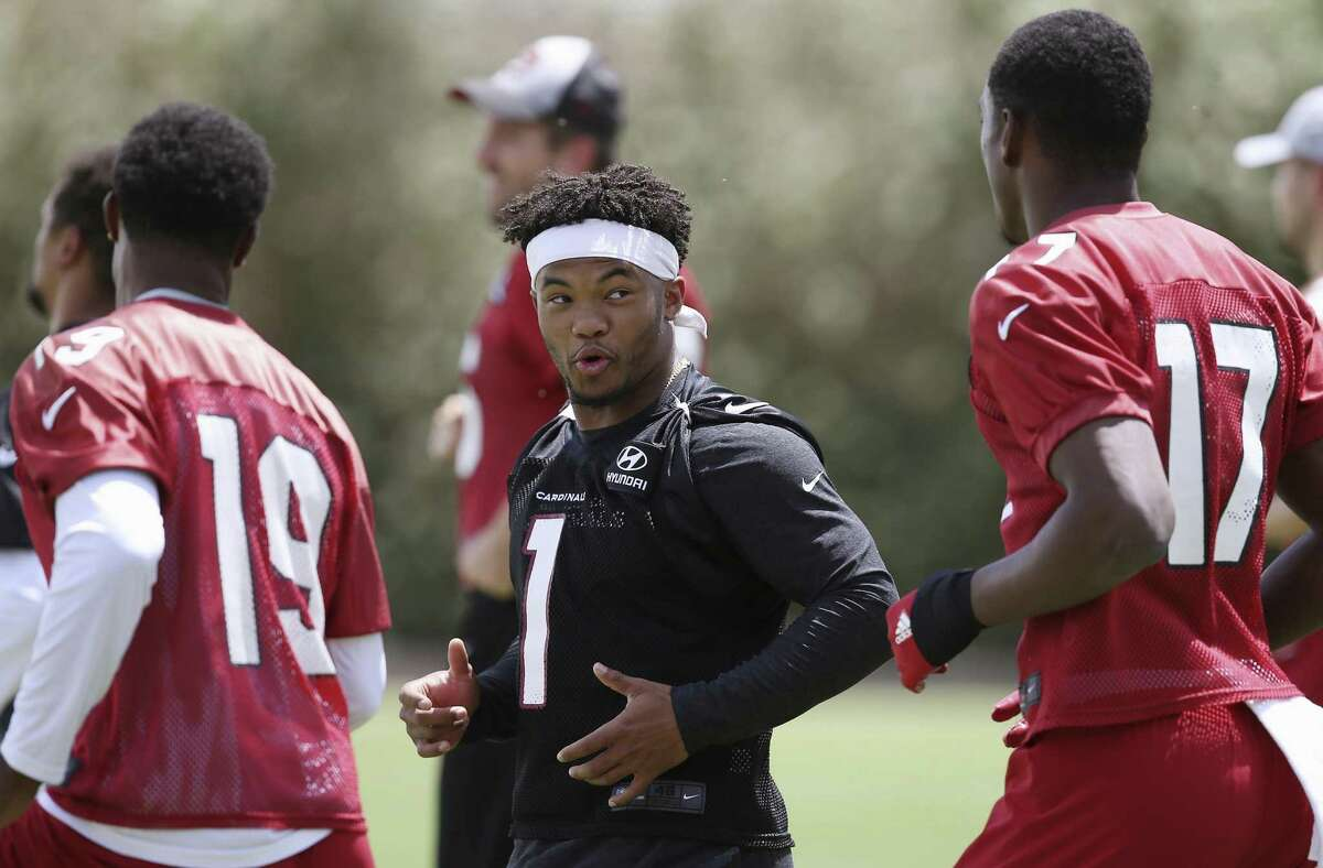 A&M coach Jimbo Fisher credits technology for helping small QBs like Cardinals rookie Kyler Murray, center, find an NFL home.