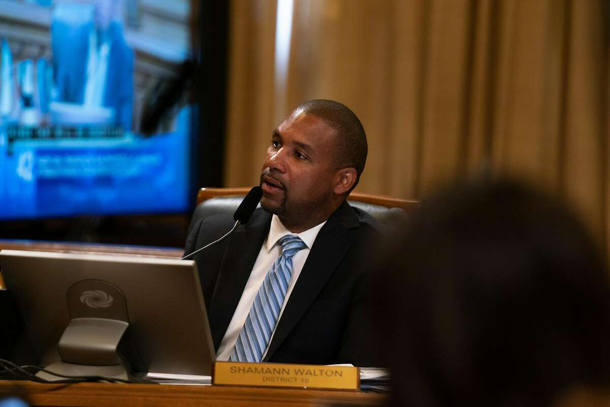 District 10 Supervisor, Shamann Walton, speaks about his support of legislation that would ban the sell of e-cigarettes at City Hall in San Francisco, Calif., on Tuesday, June 18, 2019.