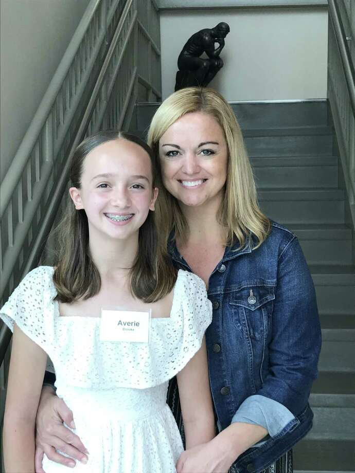 Averie Brooks, 12, and her mom, Amy Brooks, of New Hartford, pose at the Nutmeg Conservatory June 15 during orientation for the 2019 Professional Summer Programs. Averie has studied with Nutmeg for six years and will take part in two summer sessions totaling six weeks. A total of 260 students have signed up for the three summer sessions, running now through Aug. 10. For information, call the Nutmeg Ballet Conservatory at 860-482-4413. Photo: Nutmeg Conservatory / Contributed Photo