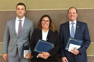 From left to right: Special Agent Thomas Lipp, Detetective Elizabeth DiIorio and Senior Special Agent Michael Sweeney.