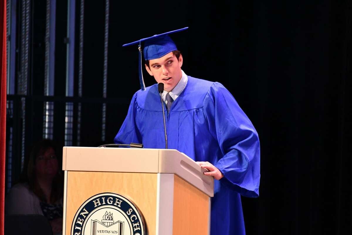 Darien High School seniors graduated on June 18, 2019 in a commencement ceremony held in the DHS auditorium.