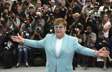 In this Thursday, May 16, 2019 photo, singer Elton John poses for photographers at the photo call for the film 'Rocketman' at the 72nd international film festival, Cannes, southern France. Photo: Joel C Ryan, Associated Press
