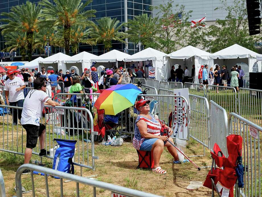 "Supporters of President Donald Trump gather Tuesday for ""45 Fest,"" a festival organized to celebrate Trump's official 2020 campaign announcement in Orlando, Fla. Photo: Photo For The Washington Post By Zack Wittman / For The Washington Post"