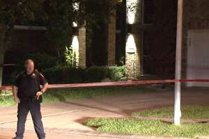 "Harris County Sheriff's Office deputies respond to a shooting Wednesday morning in which a homeowner shot a ""suspicious"" man in his front yard in the Cypress area."