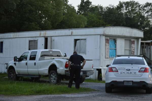 West Orange Police investigate the death of a man and woman at the Albany Street trailer park in West Orange on Tuesday. Photo taken Tuesday, June 18, 2019