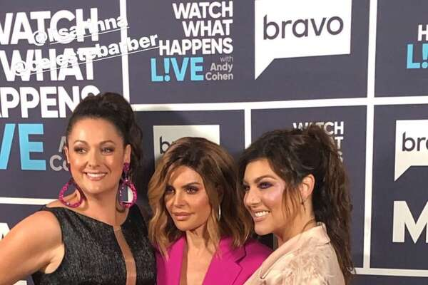 Texicana Luz Ortiz with Lisa Rinna of Real Housewives of Beverly Hills and actress and comedian Celeste Barber.