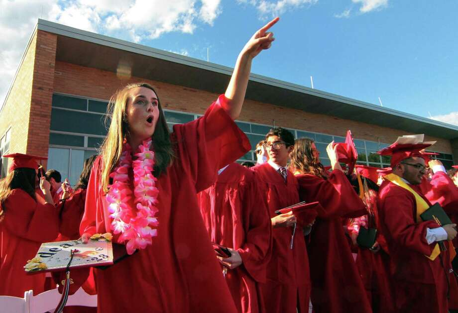 Fairfield Warde High School's commencement exercises on June 14. Photo: Christian Abraham / Hearst Connecticut Media / Connecticut Post