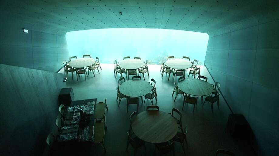 """Under,"" an underwater restaurant, is located in Lindesnes, one hour west of Kristiansand on the south coast of Norway. Photo: Picture Alliance/picture Alliance Via Getty Image / (c) Copyright 2019, dpa (www.dpa.de). Alle Rechte vorbehalten"