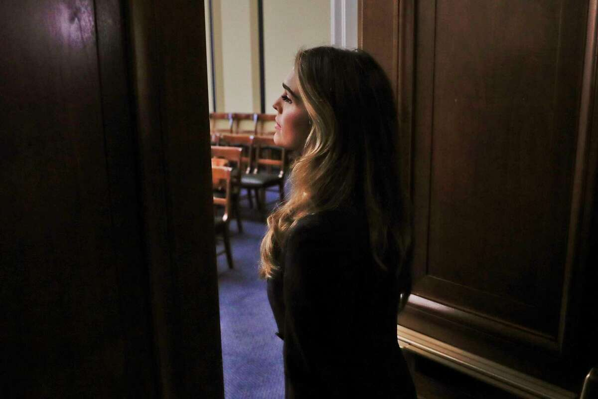 Former White House communications director Hope Hicks arrives for closed-door interview with the House Judiciary Committee, at the Capitol in Washington, Wednesday, June 19, 2019.